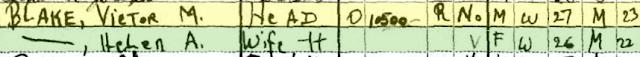 victor m and helen blake bound brook nj 1930