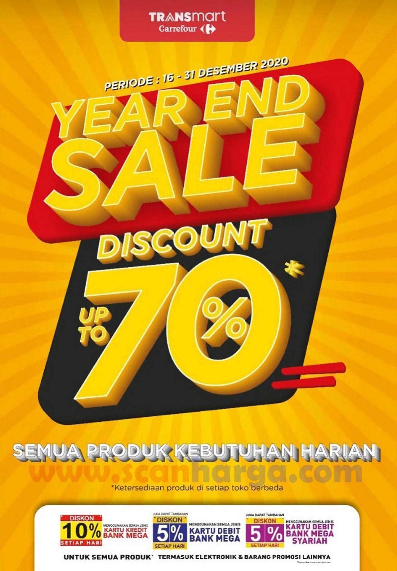 Carrefour Transmart Promo Year End Sale – DISKON 70% Semua Produk Kebutuhan Harian