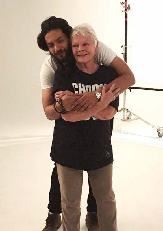 Ali Fazal and Judi Dench Photo Shoot for Choose Love for Refugees