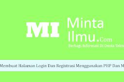 Membuat Halaman Login Dan Register Dengan PHP Dan Mysqli