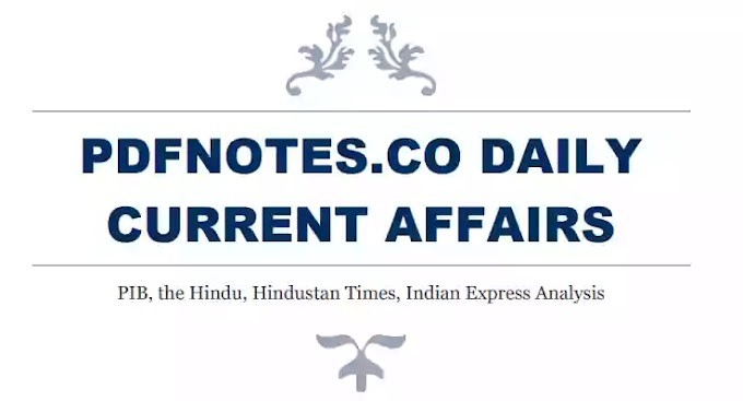 Pdfnotes The Hindu Daily Current Affairs 25-May-2020
