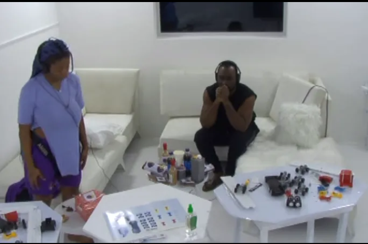 BBNaija: Angel and Pere have been asked to put the disassembled truck back together again