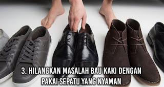 Hilangkan Masalah Bau Kaki dengan Pakai sepatu yang nyaman
