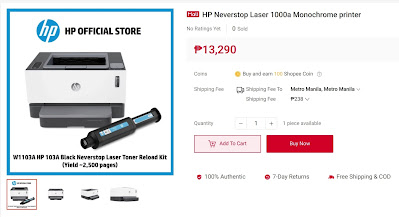 HP Neverstop Laser 1000a Monochrome printer