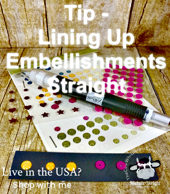 Tip, Rhinestones, Straight Embellishments, Stampin' Up!