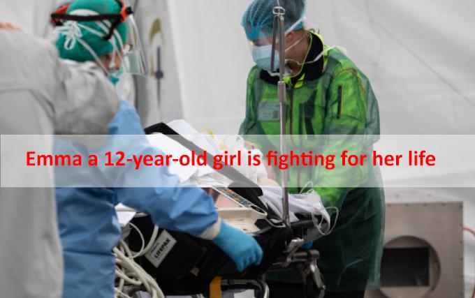 Emma, una niña de 12 años, lucha por su vida