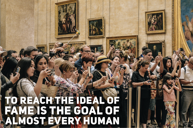 People taking pictures of a famous painting.