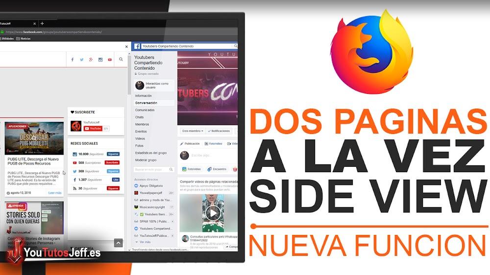 Ver Dos Paginas a la Vez en Firefox - Side View