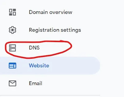 image for DNS option Google Domain