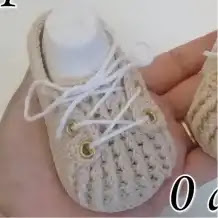 Zapatitos Aaron a Crochet