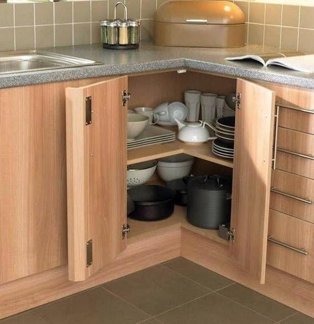 Rak piring kitchen set standard sudut dapur