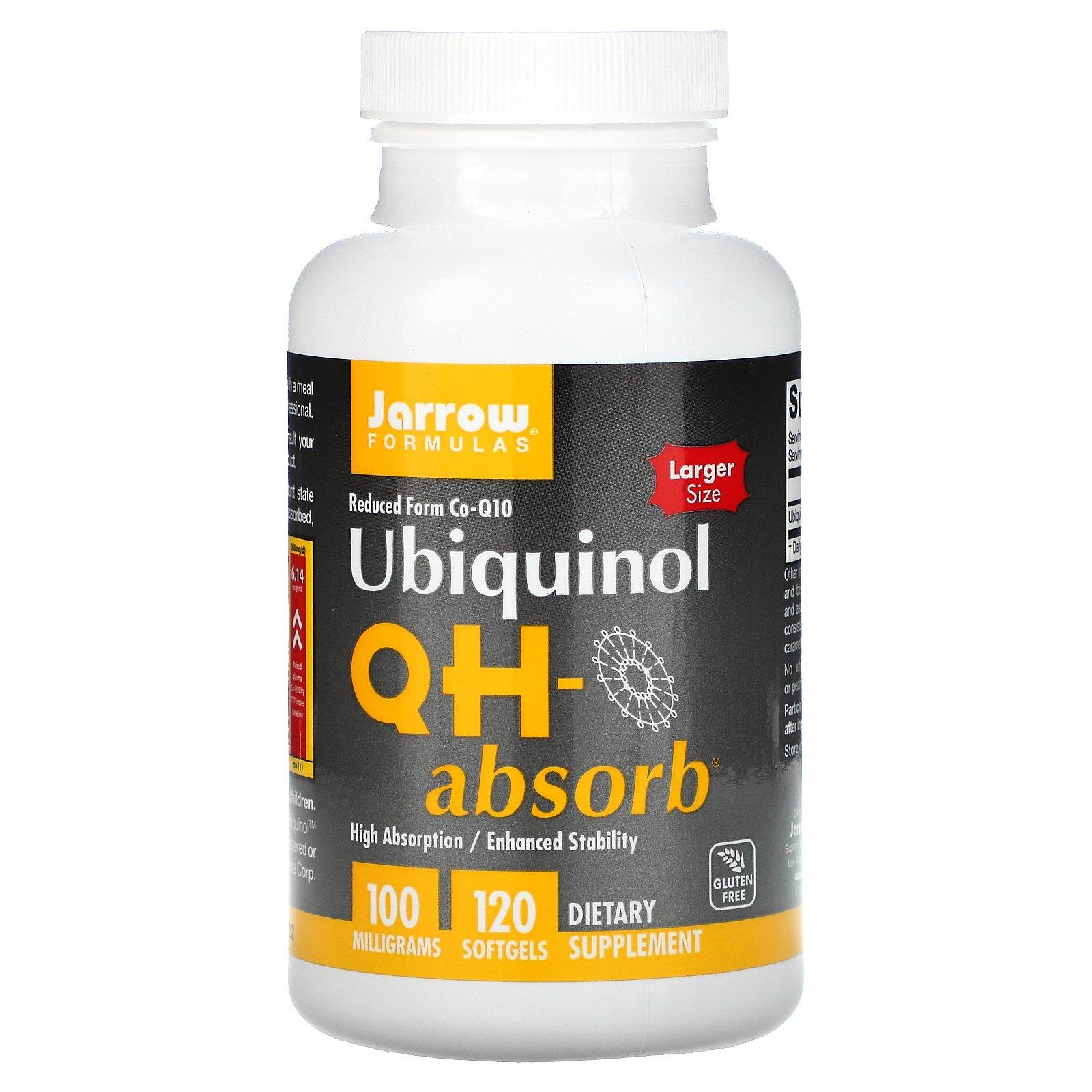 Jarrow Formulas, Убихинол QH-Absorb, 100 мг, 120 мягких желатиновых капсул