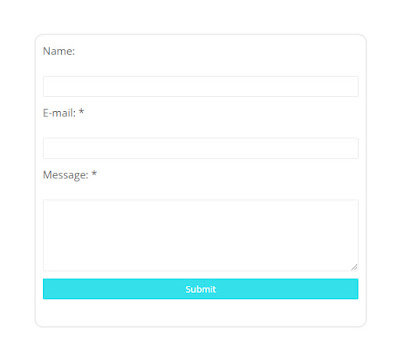 Simple contact form blogger
