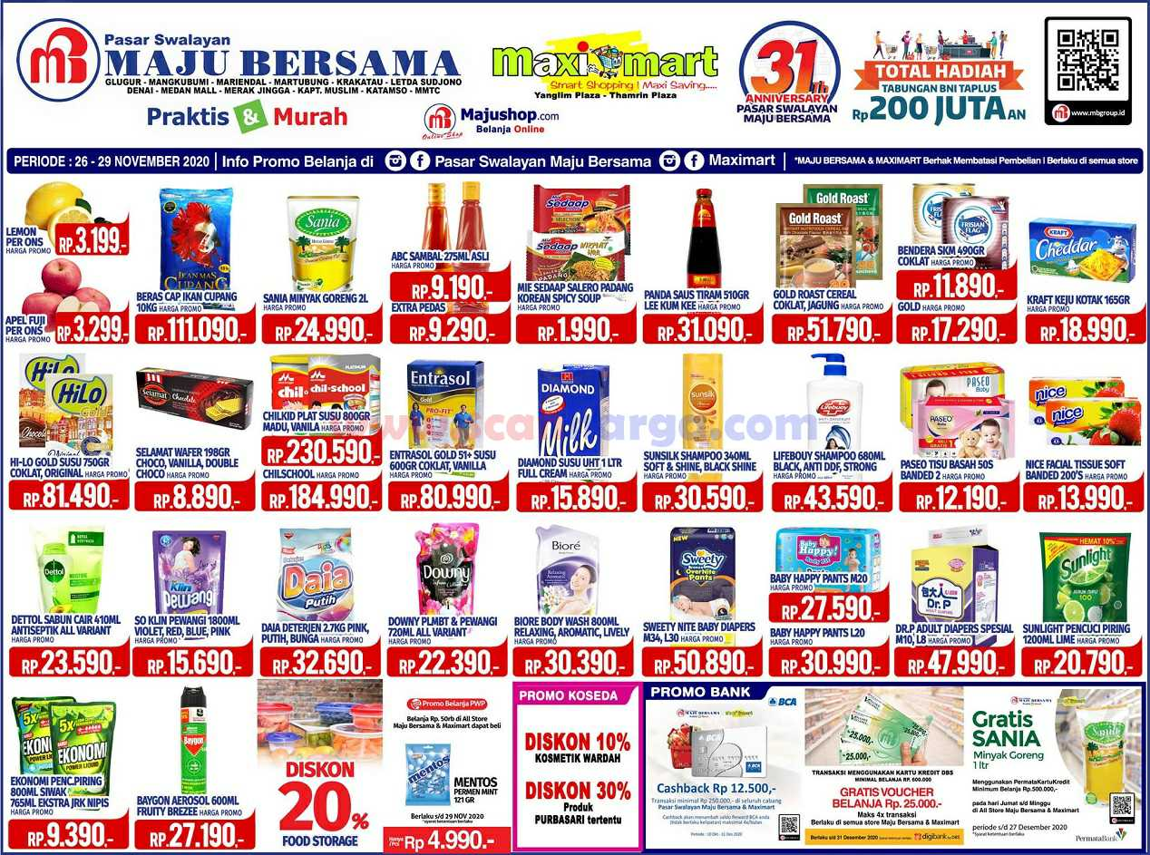 Katalog Promo Maximart Pasar Swalayan 26 - 29 November 2020