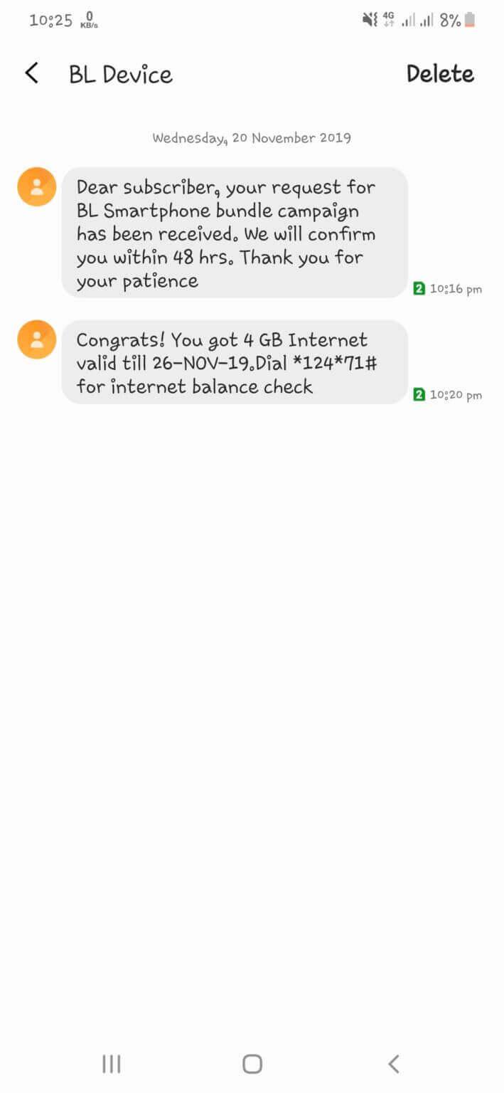 Banglalink Free Internet Offer