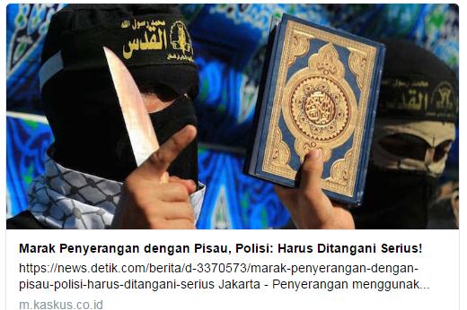 Kaskus Dituding Mendiskreditkan Islam Dengan Memberi Judul Pada Artikelnya Tentang Penyerangan Pisau Tapi Gambar Al-Qur'an!