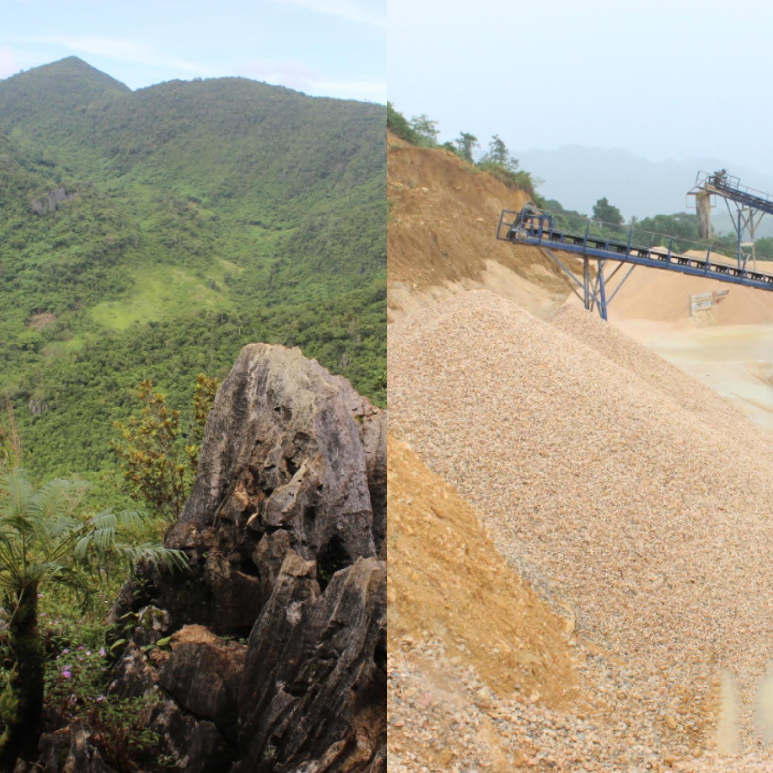 Limestone Karst destroyed through quarrying