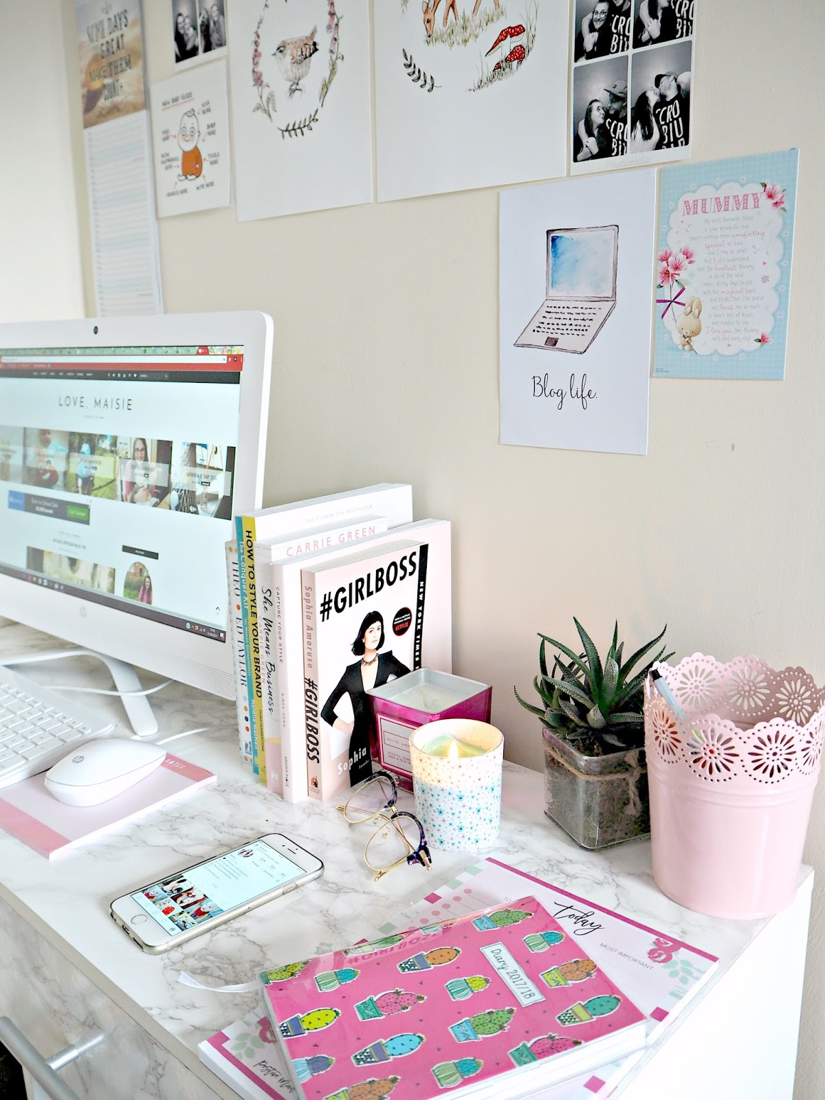 My New Work Space | Desk | Love, Maisie | www.lovemaisie.com