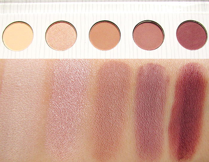 Swatches - Carli Bybel Eyeshadow & Highlighter Palette erste Reihe / first row eyeshadows