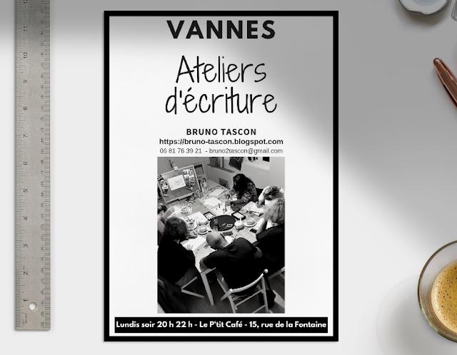 Ateliers d'écriture à Vannes - cover