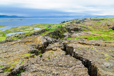 Tectonic plates in Iceland's Thingvellir National Park