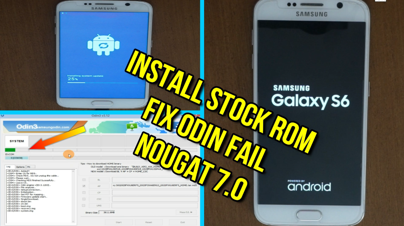 How To Flash Samsung Galaxy S6 G920A Nougat 7 0 Odin Method Tested
