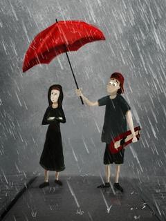 Sony Ericsson Spiro Rain Couple Wallpapers For Sony Ericsson