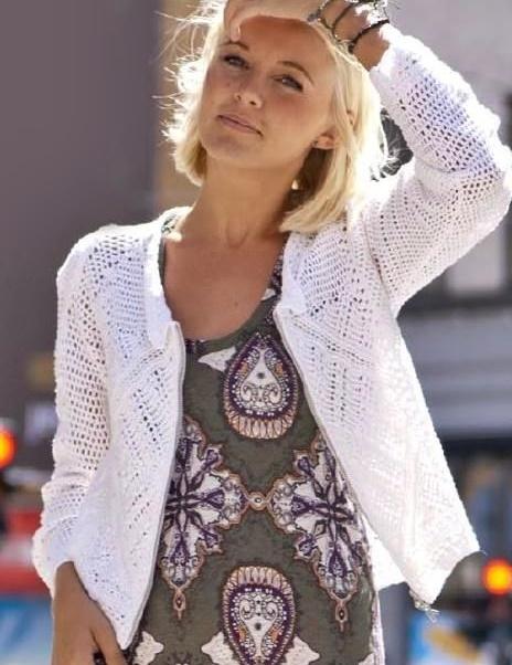 wzór sweterka szydełkiem