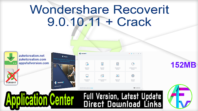 Wondershare Recoverit 9.0.10.11 + Crack