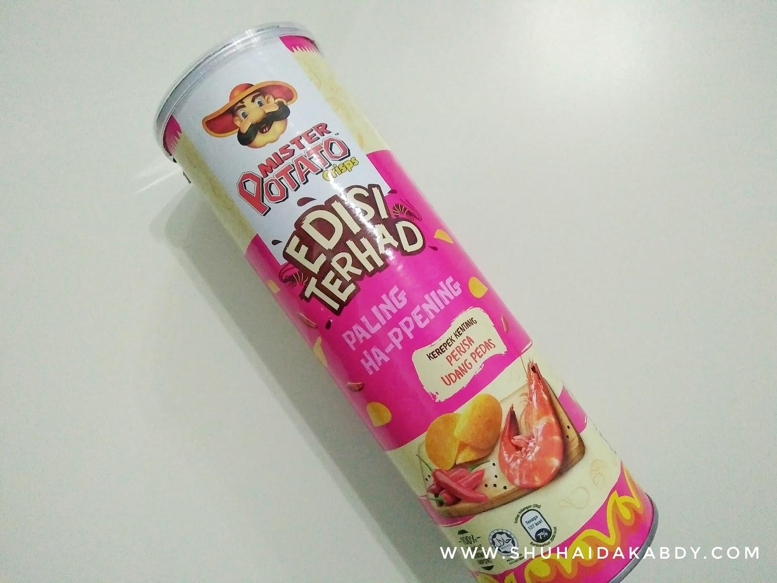 Mister Potato Terbaru Edisi Terhad Udang Pedas