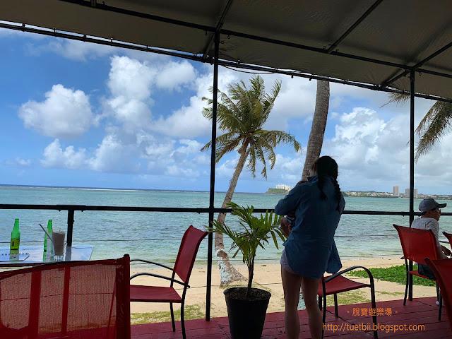 5個半月嬰兒遊關島 - TuRe Cafe看海吃午餐 驚喜見到椰子車 晚上逛夜市
