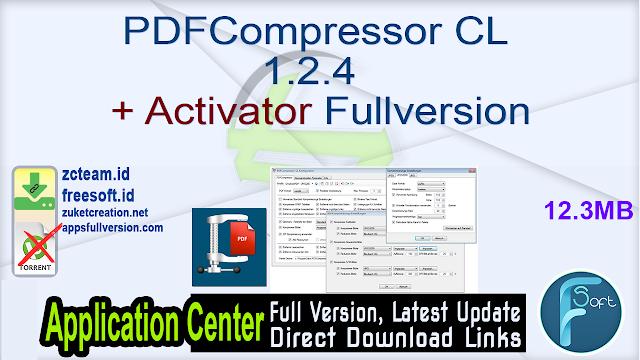 PDFCompressor-CL 1.2.4 + Activator Fullversion