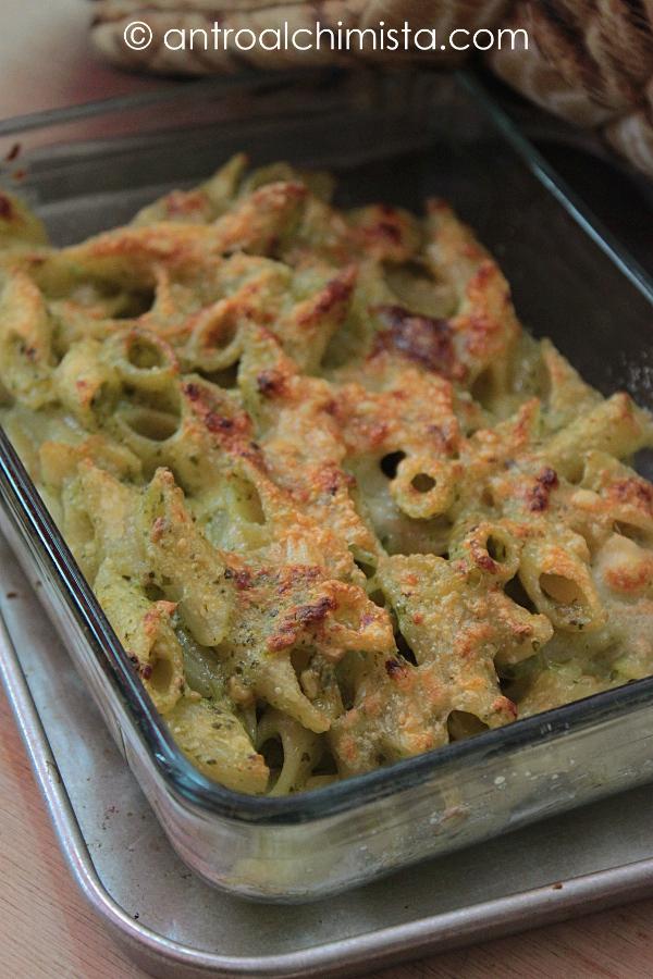 Penne Gratinate alle Zucchine con Ricotta e Mandorle