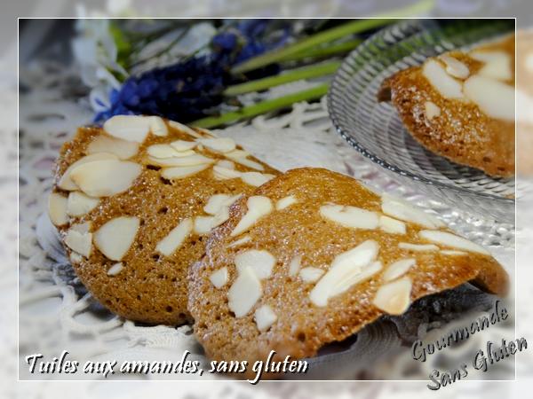Tuiles aux amandes sans gluten
