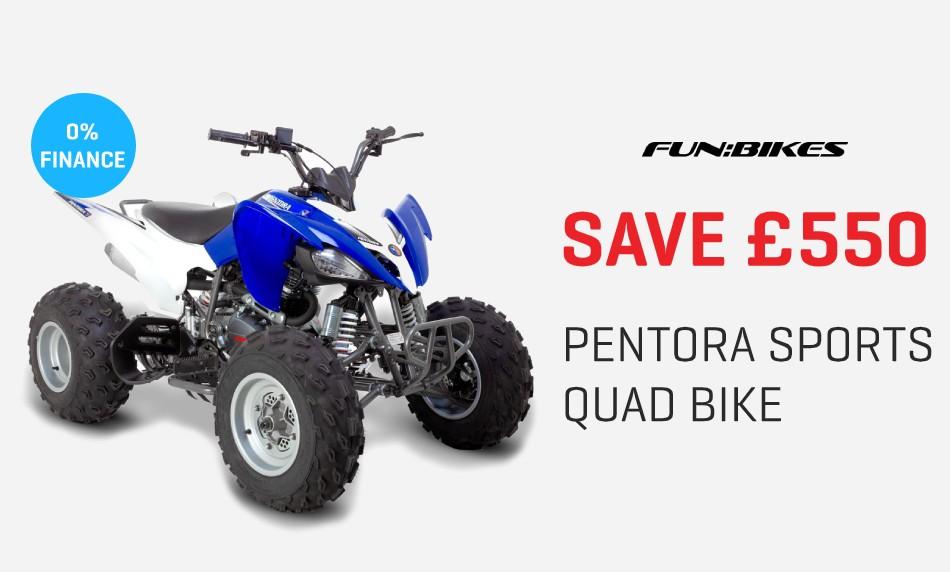 Save £550 Pentora Sports Quad Bike