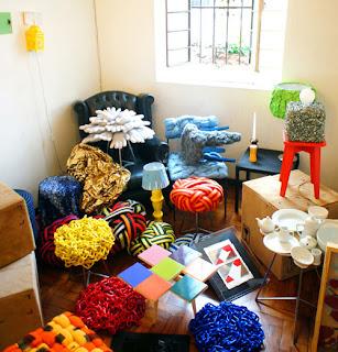 Diseño de  Muebles coloridos