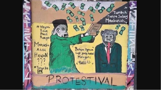 Mural Kritikan Merambah Ibukota Jadi Bukti Rezim dan DPR Sudah Tidak Dipercaya Rakyat