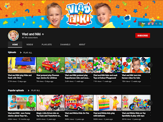 Vlad and Niki Youtube channel