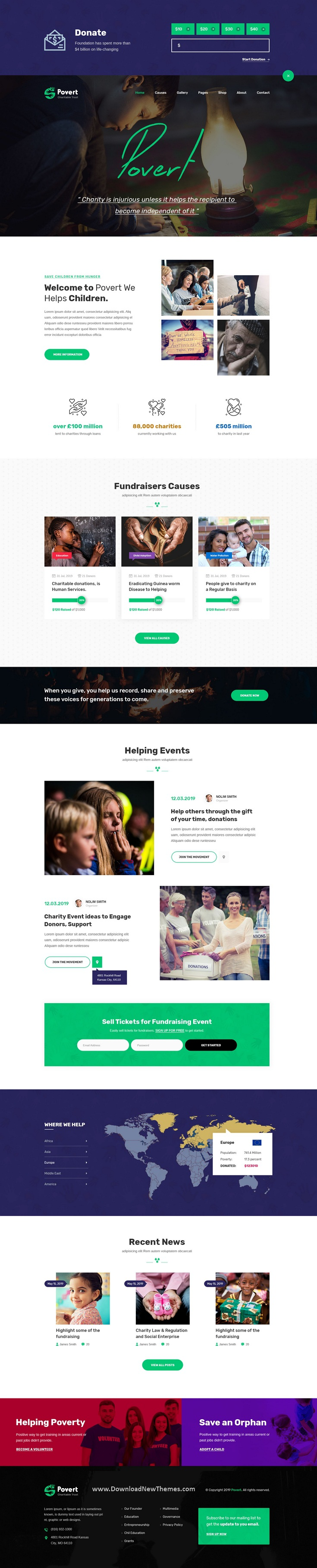 Nonprofits Charity Adobe XD Template