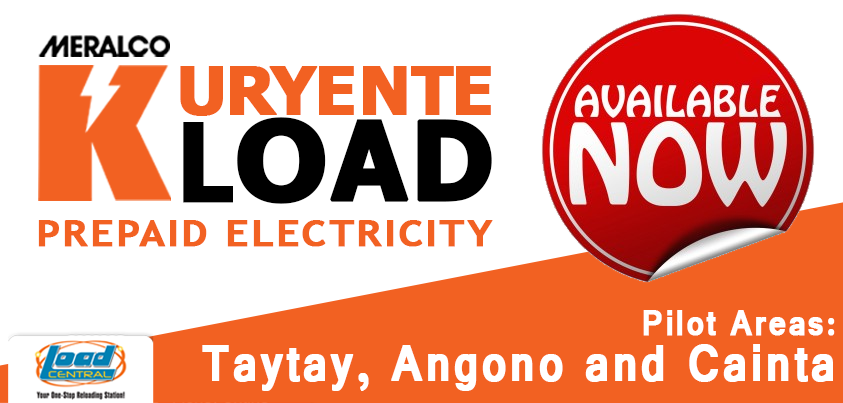 New Product: Meralco Kuryente Load (Prepaid Electricity)