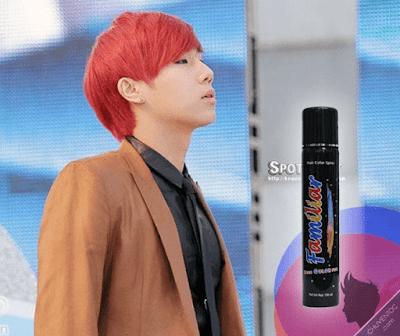 Hình ảnh keo xịt tóc màu familiar red ( đỏ)