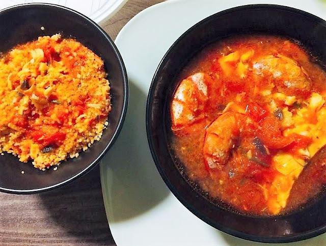 zuppa di pesce e couscous