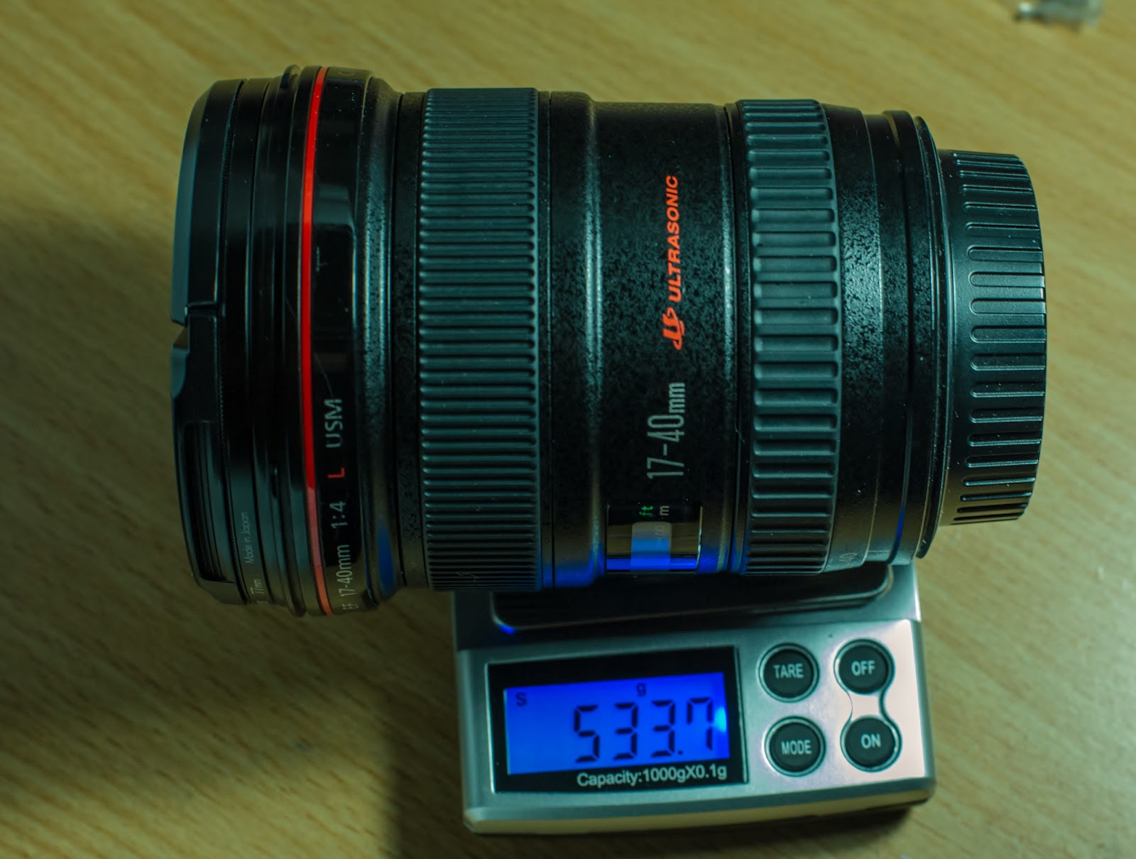 Canon 17-40mm EF f4L USM Weight