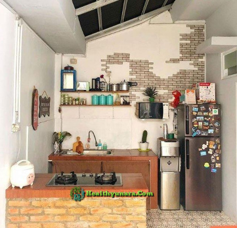 Open kitchen with industrial design