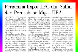 Pertamina Imports LPG and Sulfur from UAE Oil and Gas Companies