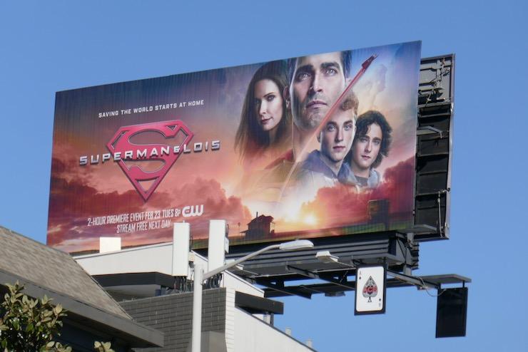 Superman and Lois series premiere billboard