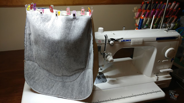 Sewing the Holly bag