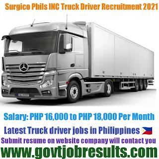 Surgico Phils INC HGV Truck Driver Recruitment 2021-22