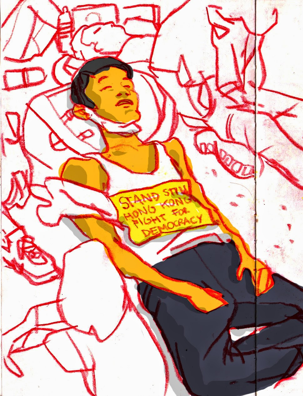 eyewitness sketches of hong kong pro democracy protests Bermuda Snorkeling Map luis simoes
