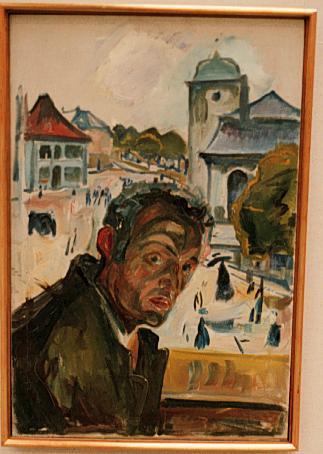 Эдвард Мунк - Автопортрет в Бергене. 1916